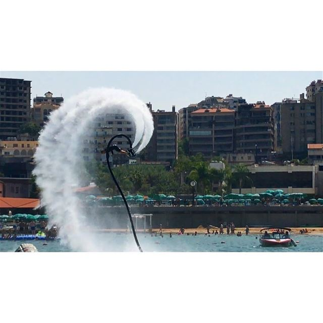 Adventure may hurt you but monotony will kill you ⌛️ flyboard ... (Joünié)