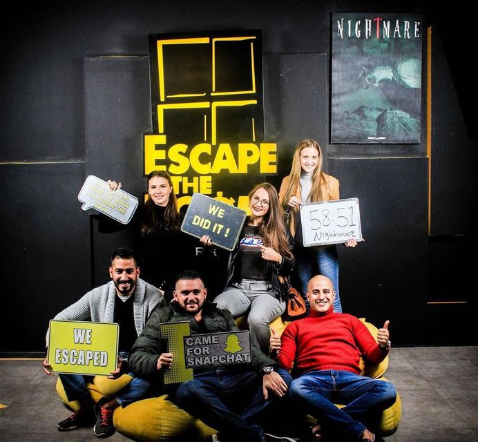 This is what happens when you accidentally meet your cousin in Jordan. ... (Escape The Room Jordan)