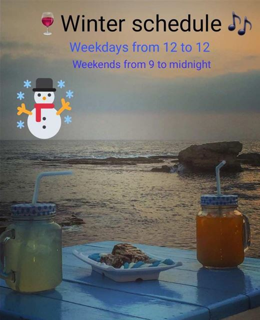 RAY's welcomes you during the  winter season starting Monday 20 November... (RAY's Batroun)