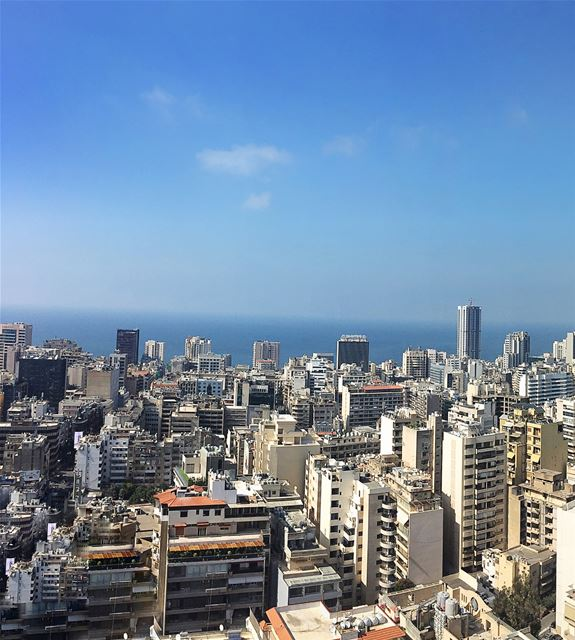 (Pano) Beirut Skyline 🌇😎🌲🇱🇧.We've all seen images of Beirut! Some... (Beirut, Lebanon)