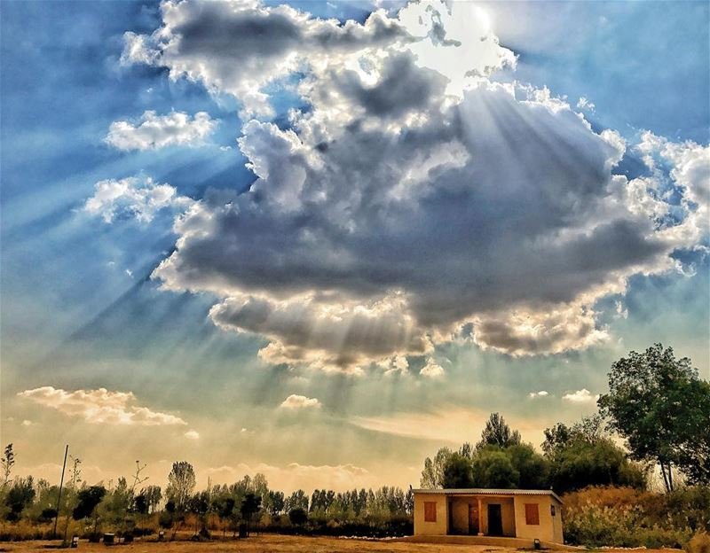 When the sky is filled with clouds,the sun still shines above........... (Taanayel- Bekaa)