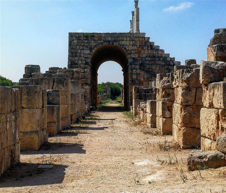 And once upon a time there was a king and a queen in a palace that's now... (Tyre, Lebanon)
