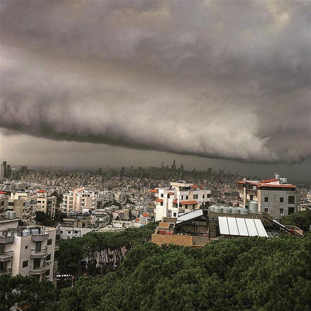 livelovelebanon livelovebeirut beirut lebanon forecast storm clouds... (Fanar, Mont-Liban, Lebanon)