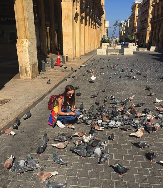 Любовь и голуби в Бейруте ❤️🐦 lebanoninstagram likeforlike lebanon ... (Downtown Beirut)