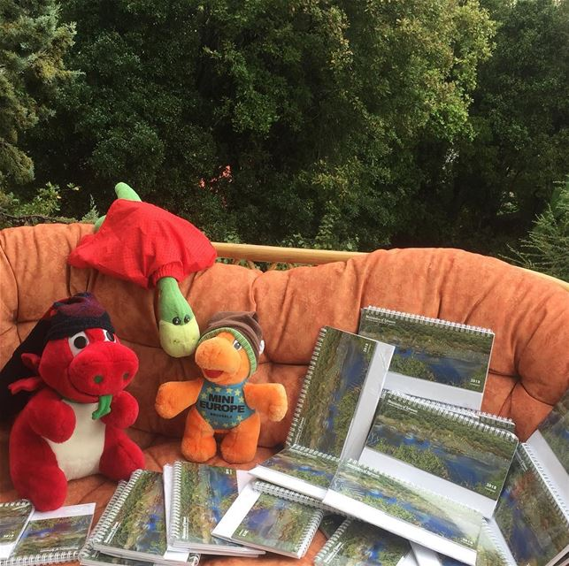 Ness, Griff and Mini-e keeping warm, are launching the 2018 Calendars!!!...