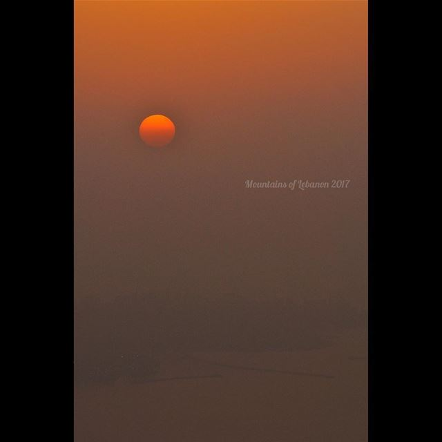 ... Just another amazing sunset over Beirut! this time hazy... sunsets ... (Ballouneh, Mont-Liban, Lebanon)
