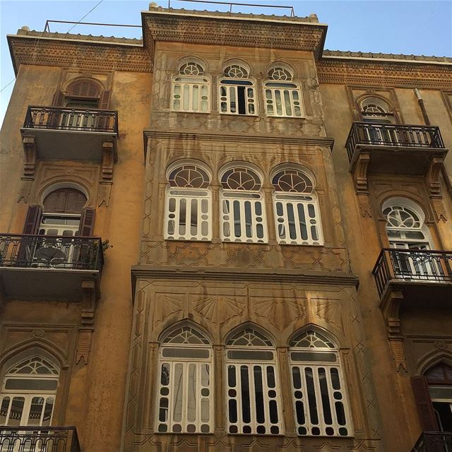 Beautiful buildings of Beirut ! instapic instaphoto photooftheday ... (Achrafieh, Lebanon)