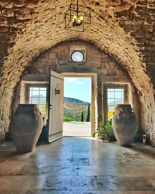 Does anyone love Lebanese architecture as much as I do? Morning 💙... (Ixsir Winery)