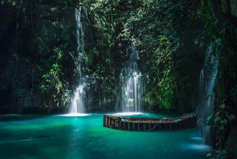 once upon a river waterfall boat alzarka livelovebaakline ... (Shallalat Al Zarka شلالات الزرقا)