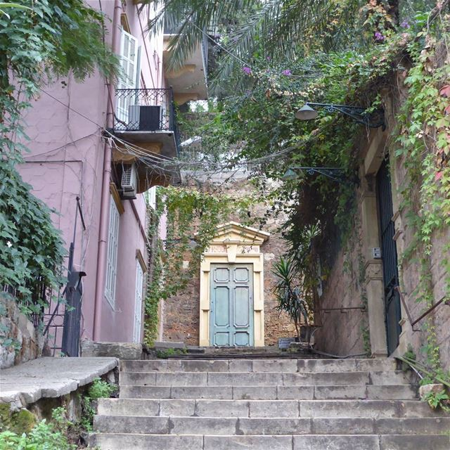 One of the oh so many staircases in the hip and upcoming neighborhood... (Beirut, Lebanon)