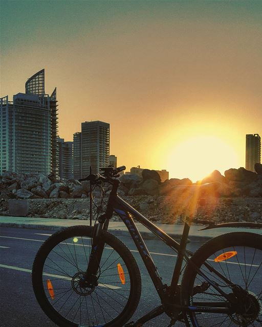 """""""All what I see is mine""""This is a cycling feeling ..💛..... mybike... (Beirut, Lebanon)"""