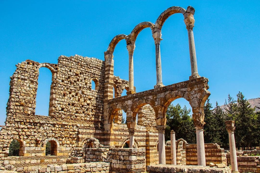 The city of Anjar was founded by the Umayyad Caliph Walid I at the... (`Anjar, Béqaa, Lebanon)