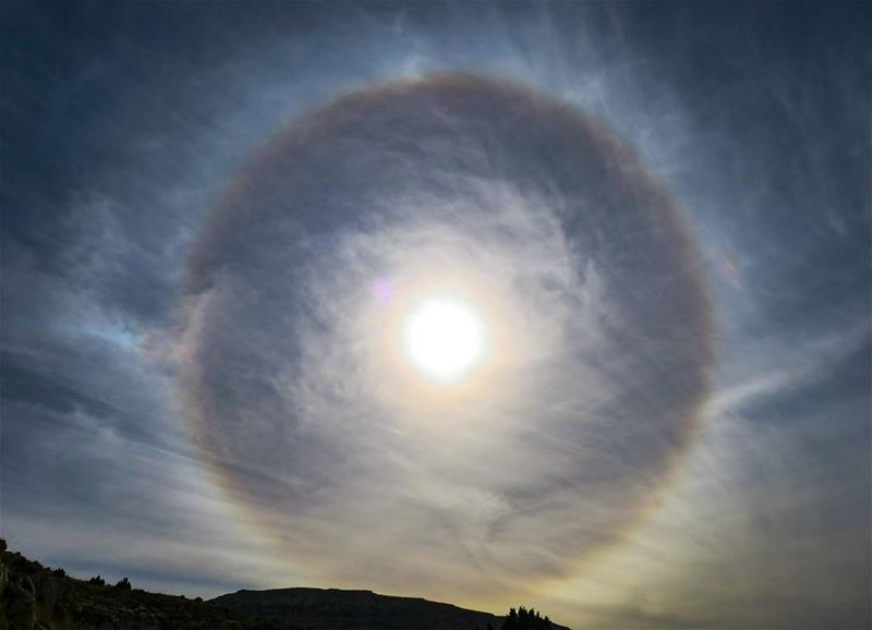 عين الله ترعاكم 😁 sun halo clouds hike ehden nature outdoors ... (Ehden, Lebanon)