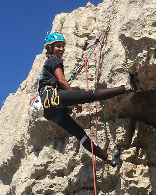 Happiness after finishing her first lead climb!!@pamepinoke... summer...