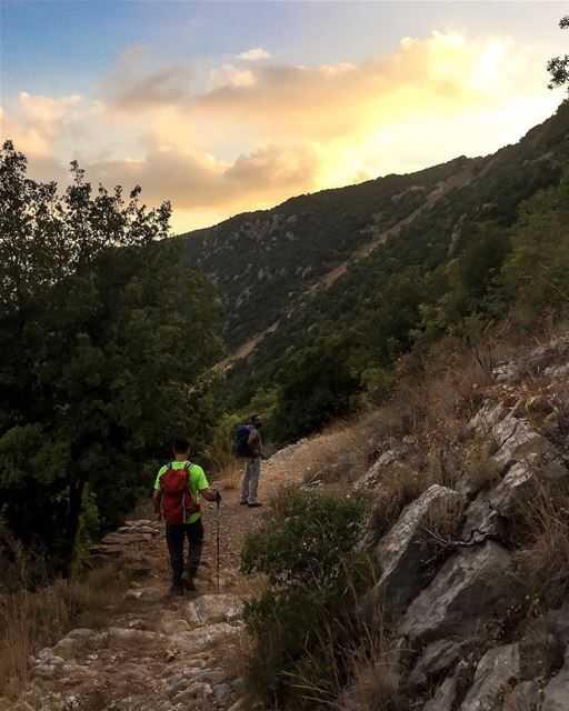 Fire in the sky, hikers on the trail. ... thediscoverer ... (Lebanon)