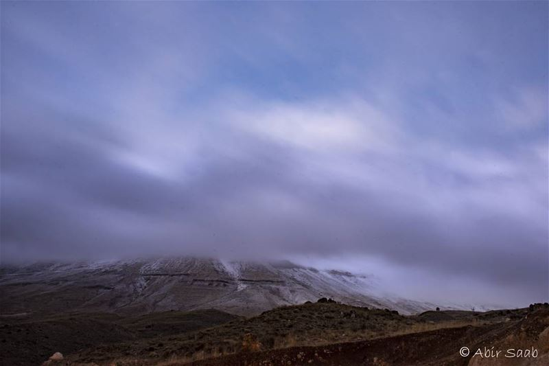 First flurries of the season 🌨🌨🌨 lebanon bsharri northlebanon fog ... (Bsharri, Lebanon)
