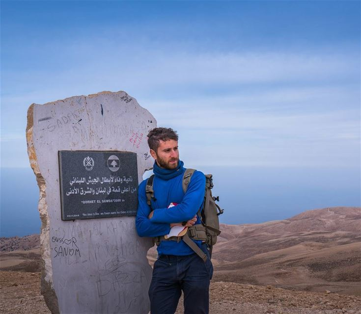 Finally made it to the highest point around! ... (Qurnat as Sawda')