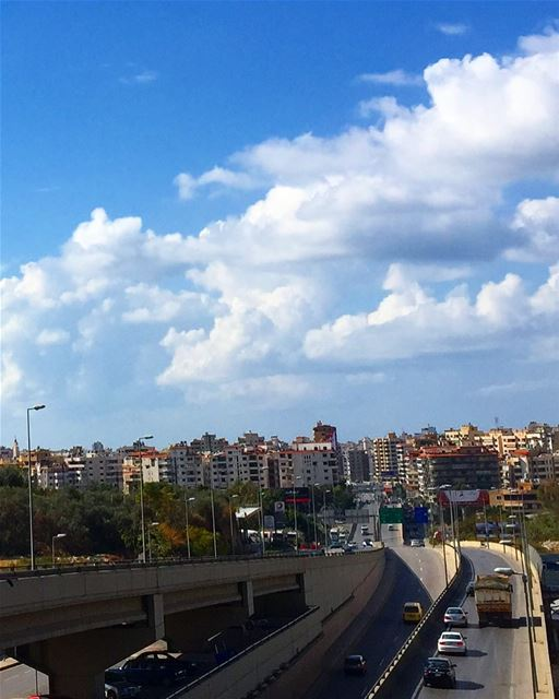 🏙☁️💙(View from Hazmieh) beirut city town bluesky clouds clearday ... (Beirut, Lebanon)