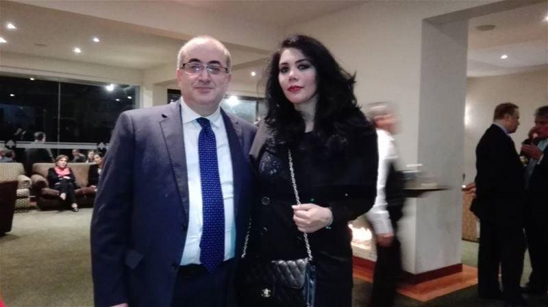 """""""Fiesta Nacional Libanesa"""" con mi gran amigo y la primera autoridad del... (Club Libanes)"""