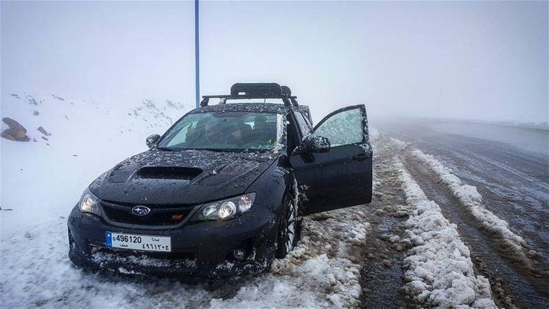 تم افتتاح موسم التشفيط والمنيكة رسميا subaru impreza sti snow...