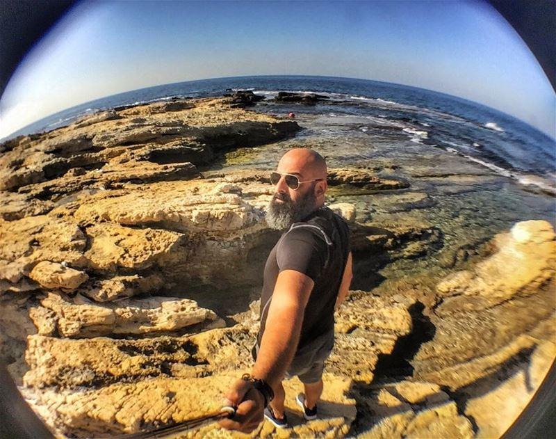 Where my heart belongs... Good morning😌 me sea selfie nature lebanon...