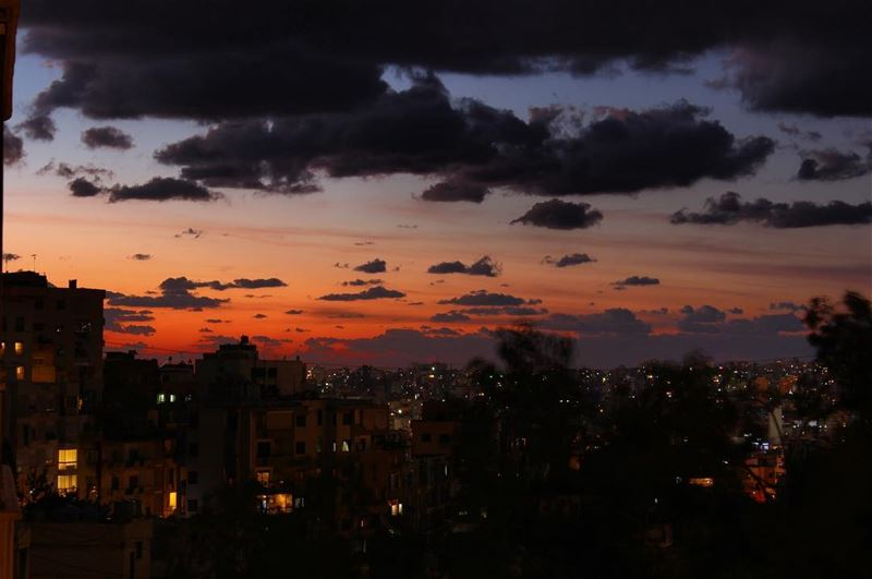 sunset time clouds sky colors beirut lebanon night canon ...