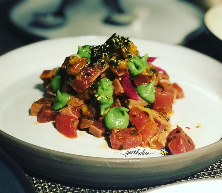 1️⃣Seared Bluefin Tuna Ceviche, served with green Mango, Indian onion,... (Paname)