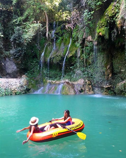 tb to Summer days at paradiselebanon baakline river waterfall ... (Shallalat Al Zarka شلالات الزرقا)