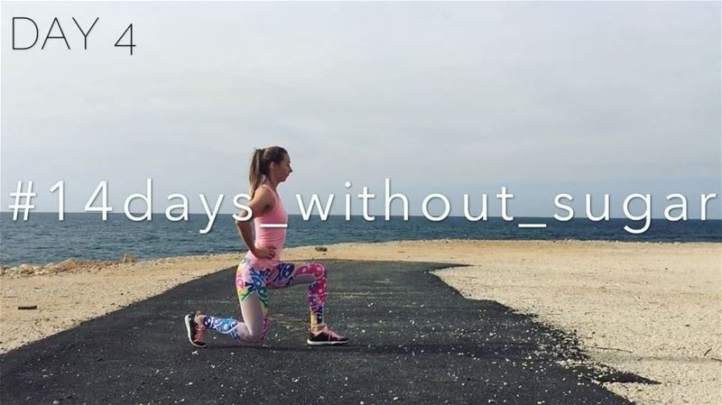 "14days_without_sugar✔️DAY 4• Exercise of the day - ""Backward Lunges""•... (Joünié)"