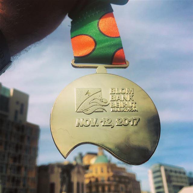 15th edition Medal of BeirutMarathon BlomBankBeirutMarathon ... (Beirut, Lebanon)