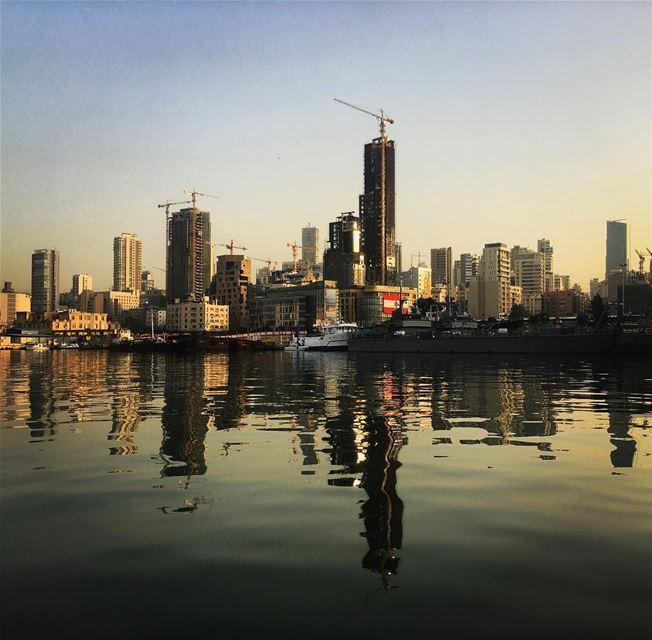 Off Beirut's port port sea sailing landscapephotography reflection ... (Port of Beirut)