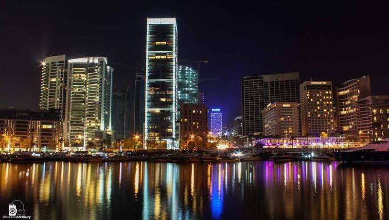nightphotography nightphoto night longexposure beirut beirutcity... (Saint-George Hotel,Yacht Club & Marina)