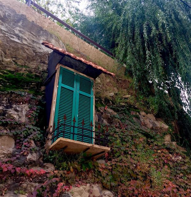 lookingup green closedwindow thatwillnever open roadtrip lebanon ... (North Governorate)