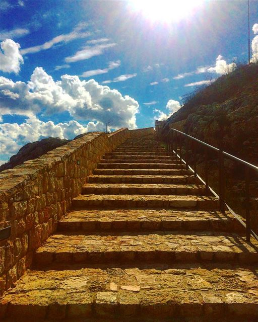 Stairway to heaven 🕊•• monuments monumentshistoriques ... (Kal3at Shkef)