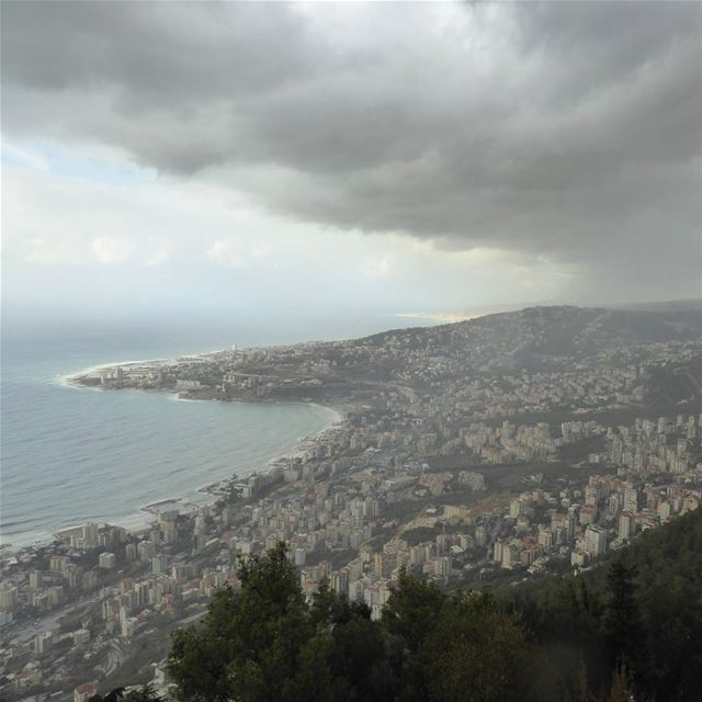 Cloudy and a chance of rain. Yeah sure. ... lebanon livelovelebanon ... (Harîssa, Mont-Liban, Lebanon)