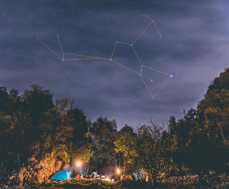 Stargazing 101 🔭Orion Constellation (The Hunter) ⛺️🔥 ⠀⠀⠀⠀⠀⠀⠀⠀⠀⠀⠀⠀⠀⠀⠀⠀⠀⠀⠀ (Chahtoul Camping)