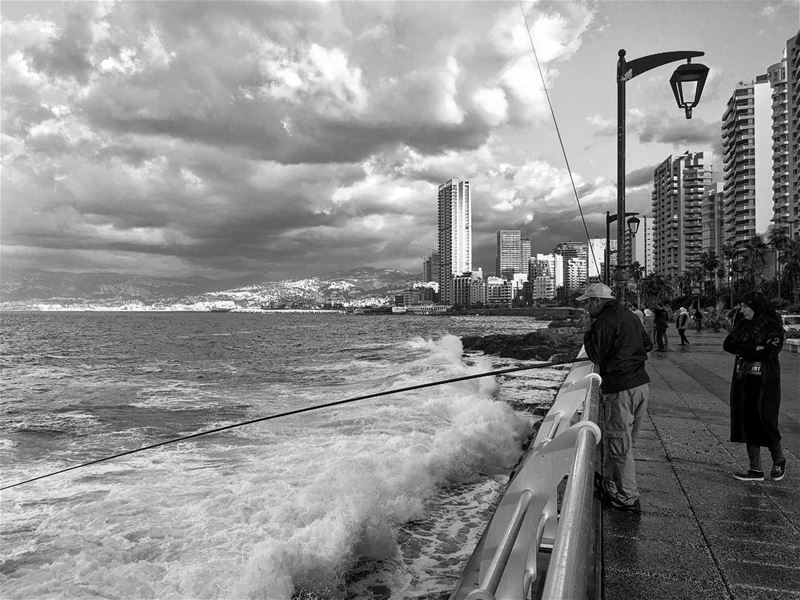 When it rains beirut cloud photography tower Lebanon November ...