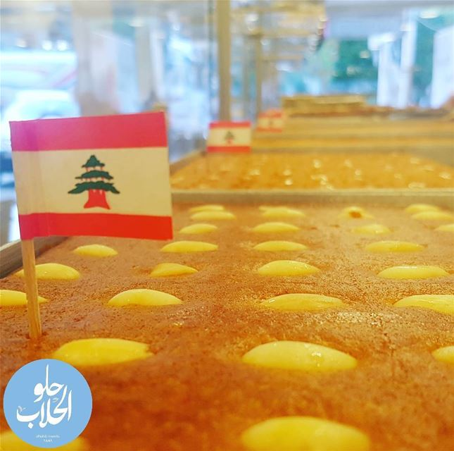 happyindependancedayOur beloved country 😍😁🇱🇧لبنان Into the 75th year... (Abed Ghazi Hallab Sweets)