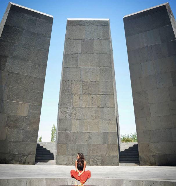 I shldve shifted to the left ... (Armenia Genocide Museum, Yerevan, Armenia)