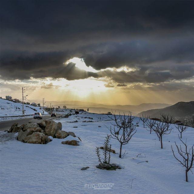 Autumn Snow Sunset Sky Clouds Colors Lebanon LiveLoveLebanon ...