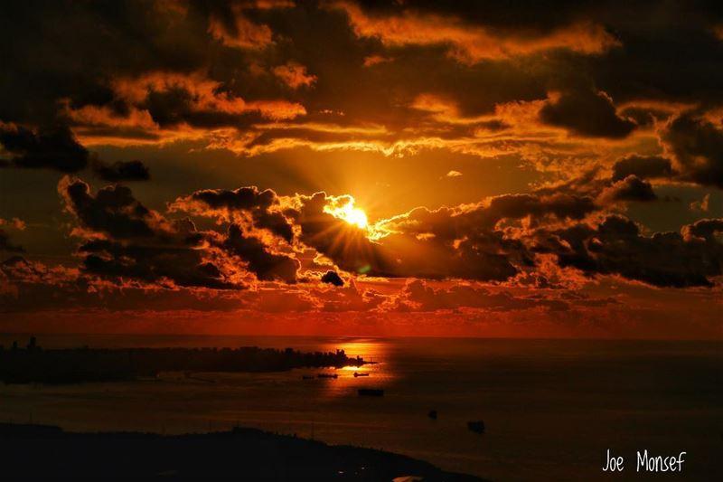 sunset clouds sea sky photography photooftheday lebanon @insta_leban