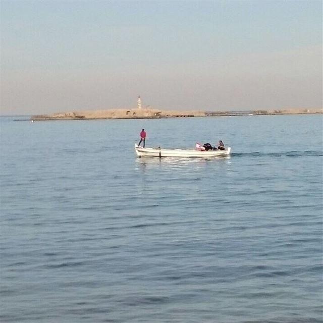 saida sea beach rocks wave fishing cafe saidoncastle lebanon ... (Saïda, Al Janub, Lebanon)