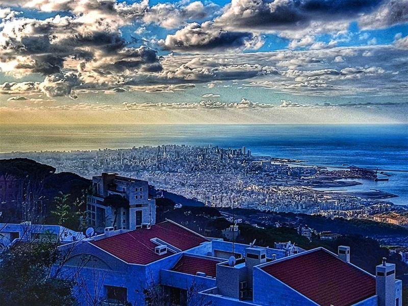 A jewel on the Mediterranean beirut beirutcity landscape ... (Brummana)