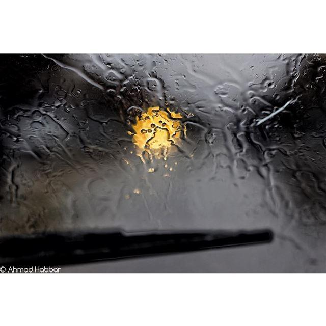 Rain+glass= meditation rain car glass hope meditation winter ... (Beirut, Lebanon)