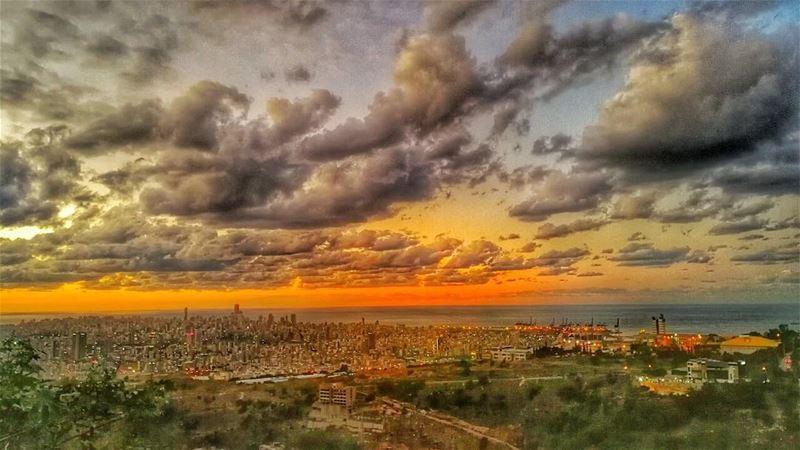 beirut sunset ... (Mansourieh El Matn المنصورية - المتن)