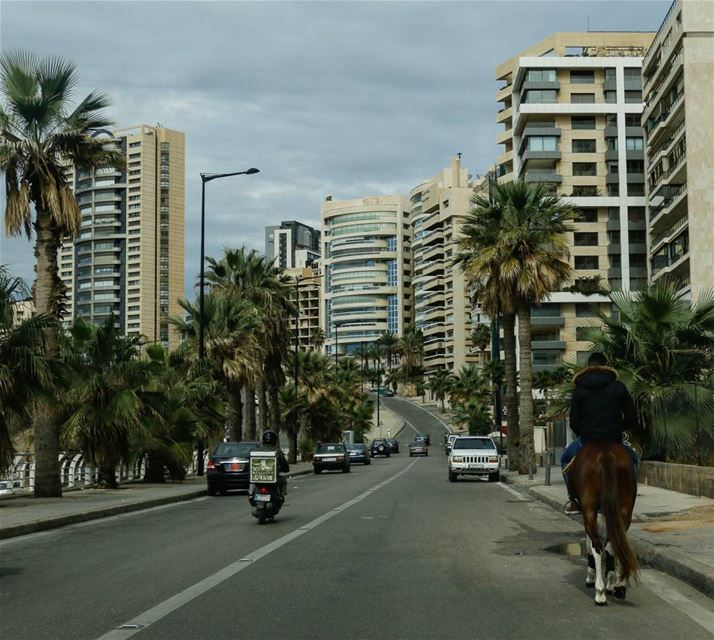 Galloping in the city... galloping inthecity lebanon surprise ... (Beirut, Lebanon)