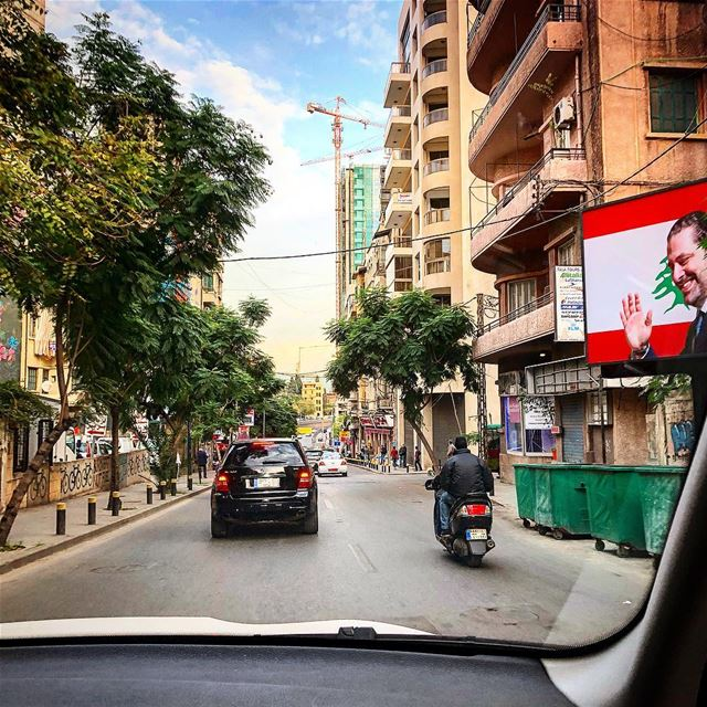 One of my favorite things to do in Beirut: driving around where I have... (Beirut, Lebanon)
