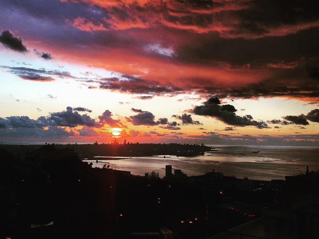 aftertherain dark multicolor clouds over beirut bluesky cloudporn ...