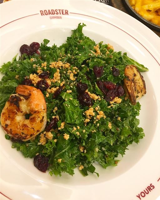 I love kale 🍀 and this Salad from @roadsterdiner is super tasty and... (Beirut, Lebanon)