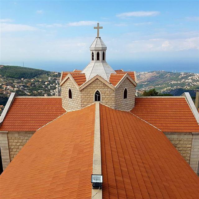 لقطة من أعلى قبة كنيسة ببيت شباب (١٦متر ) - كنيسة مار أنطونيوس الكبير ..... (Beït Chabâb, Mont-Liban, Lebanon)